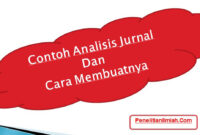 Contoh Analisis Jurnal