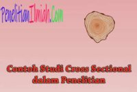 Contoh Studi Cross Sectional