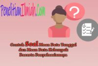 Contoh Mean Data Tunggal dan Data Kelompok